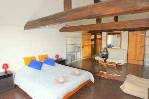 Surf Accommodation Moliets luxury B&B, family bedroom, bedroom ensuite